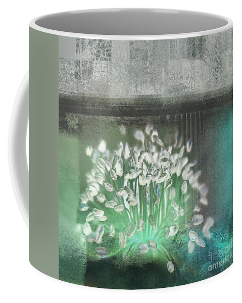Floral Coffee Mug featuring the digital art Floralart - 03 by Variance Collections