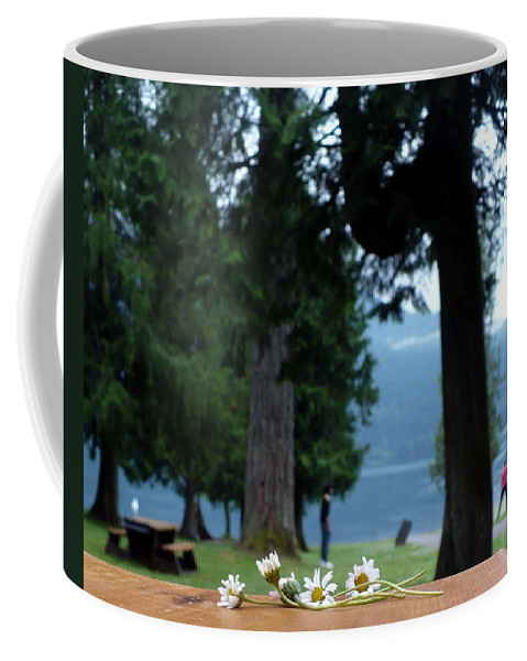Daisies Coffee Mug featuring the photograph Floral's At The Lake by Nicki Bennett