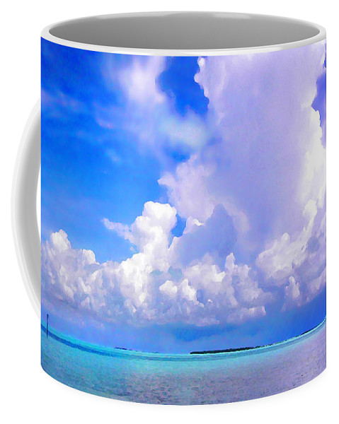 Florida Coffee Mug featuring the photograph Florida Bay At Shell Pass Filtered by Duane McCullough
