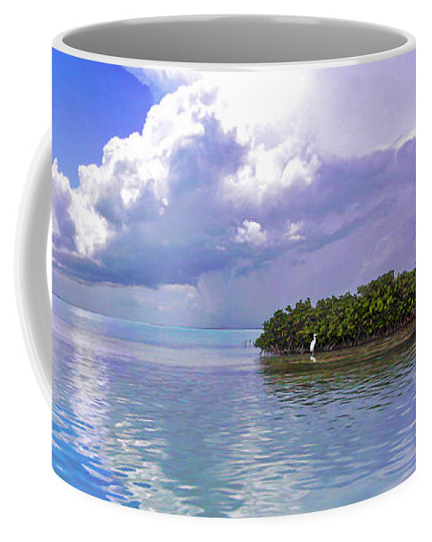 Florida Bay Coffee Mug featuring the photograph Florida Bay Island Filtered by Duane McCullough