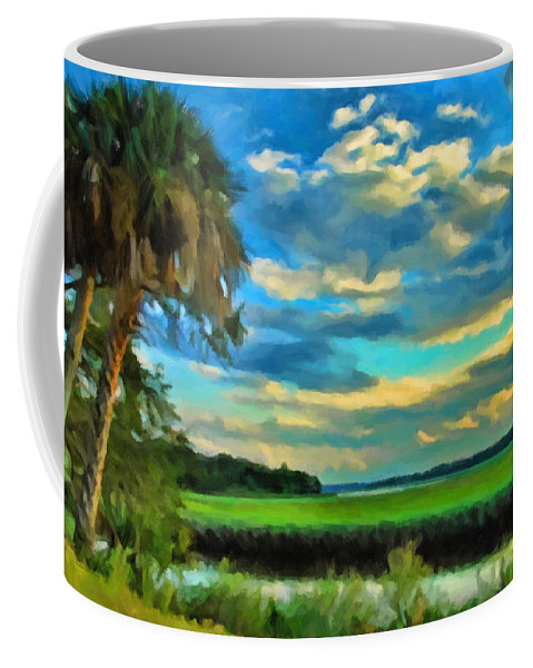 Kenny Francis Coffee Mug featuring the photograph Florida Landscape With Palms by Kenny Francis