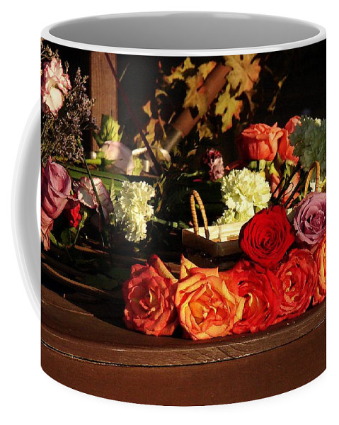 Fine Art Coffee Mug featuring the photograph Flower Cart by Rodney Lee Williams
