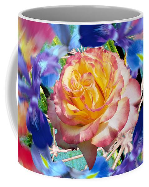 Flowers Coffee Mug featuring the digital art Flower Dance 2 by Lisa Yount