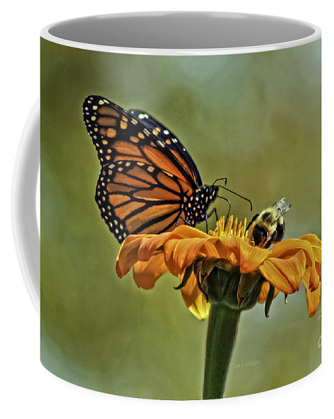 Mexican Sunflower Coffee Mug featuring the photograph Flower Duet by Jan Killian