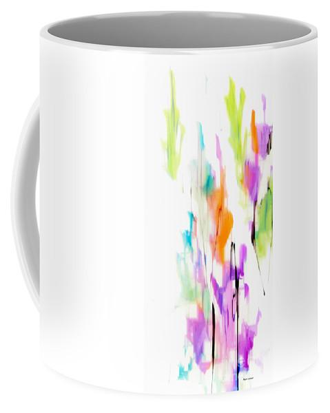 Green Coffee Mug featuring the digital art Flower Fantasy 2 by Rafael Salazar