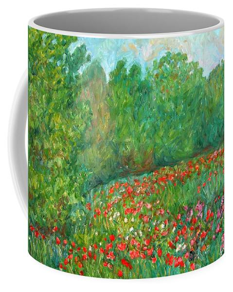 Blue Ridge Paintings Coffee Mug featuring the painting Flower Field by Kendall Kessler