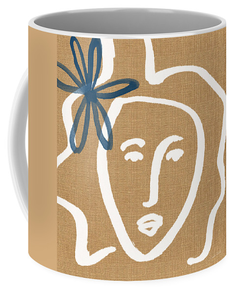 Woman Coffee Mug featuring the painting Flower Girl by Linda Woods