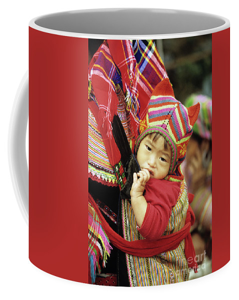 Flower Hmong Coffee Mug featuring the photograph Flower Hmong Baby 01 by Rick Piper Photography