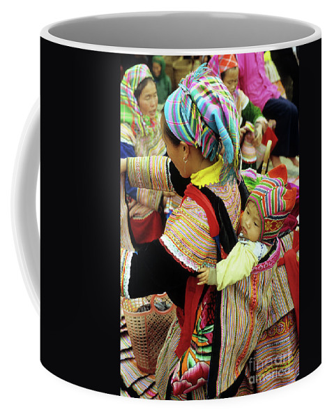 Flower Hmong Coffee Mug featuring the photograph Flower Hmong Baby 03 by Rick Piper Photography