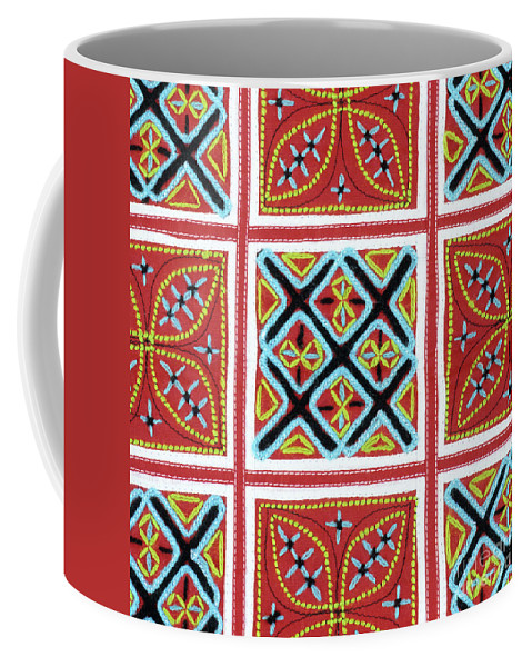 Vietnam Coffee Mug featuring the photograph Flower Hmong Embroidery 01 by Rick Piper Photography