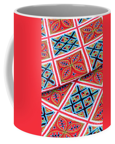 Vietnam Coffee Mug featuring the photograph Flower Hmong Embroidery 02 by Rick Piper Photography
