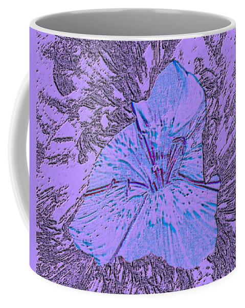 Celebrate Coffee Mug featuring the digital art Flower Of Purple by Sergey Bezhinets