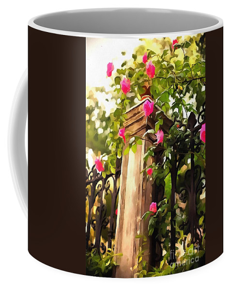 Flower Post Coffee Mug featuring the painting Flower Post by Catherine Lott
