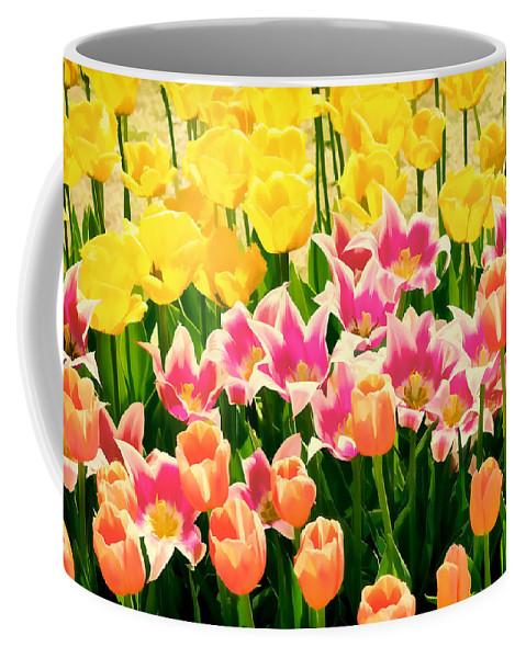 Lowers Coffee Mug featuring the photograph Flower Splash Ix by Tina Baxter