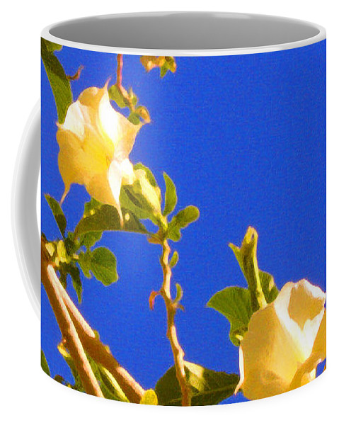 Landscapes Coffee Mug featuring the painting Flowering Tree 1 by Amy Vangsgard