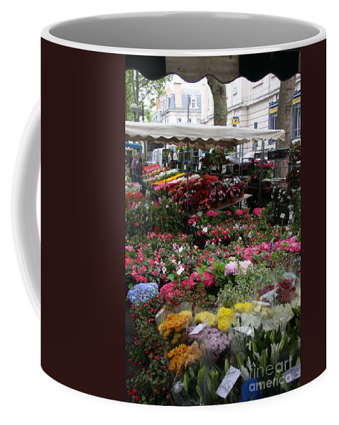 Flowermarket Coffee Mug featuring the photograph Flowermarket - Tours by Christiane Schulze Art And Photography