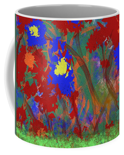 Wild Flowers Coffee Mug featuring the painting Flowers At Rest by Bill Minkowitz