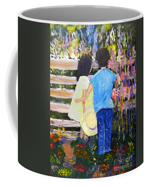 Impressionism Coffee Mug featuring the painting Flowers For Her by Pamela Meredith