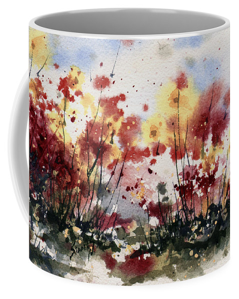 Floral Coffee Mug featuring the painting Flowers by Sam Sidders