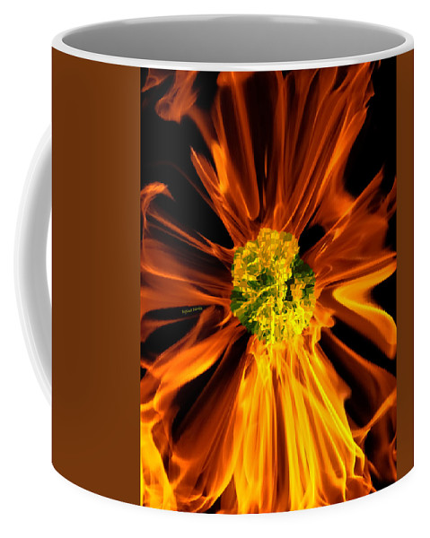 Fire Coffee Mug featuring the photograph Flowery Flames by DigiArt Diaries by Vicky B Fuller