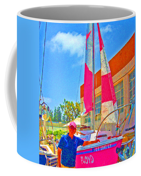 The Story Of Joe And Floyd Coffee Mug featuring the photograph Floyd And Her Dad by Joseph Coulombe