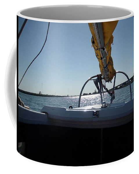 The Story Of Joe And Floyd Coffee Mug featuring the photograph Floyd B4 A Sunset On Potato Slough by Joseph Coulombe