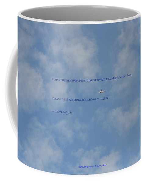 Amelia Earhart Coffee Mug featuring the photograph Flying High by Sonali Gangane