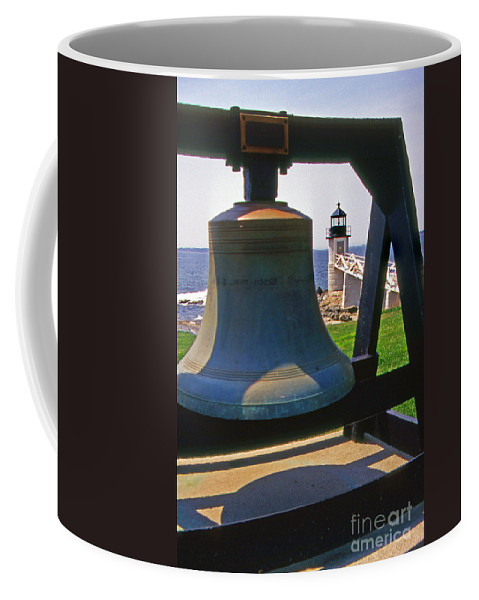 Lighthouses Coffee Mug featuring the photograph Fog Bell by Skip Willits