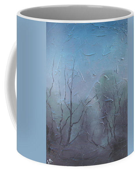 Landscape Coffee Mug featuring the painting Fog by Sergey Bezhinets