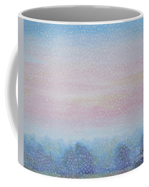 Landscape Coffee Mug featuring the painting Fog by Tonya Henderson