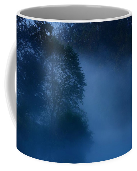 Nature Landscapes Coffee Mug featuring the photograph Foggy Dawn IIi- Holmdel Park by Angie Tirado