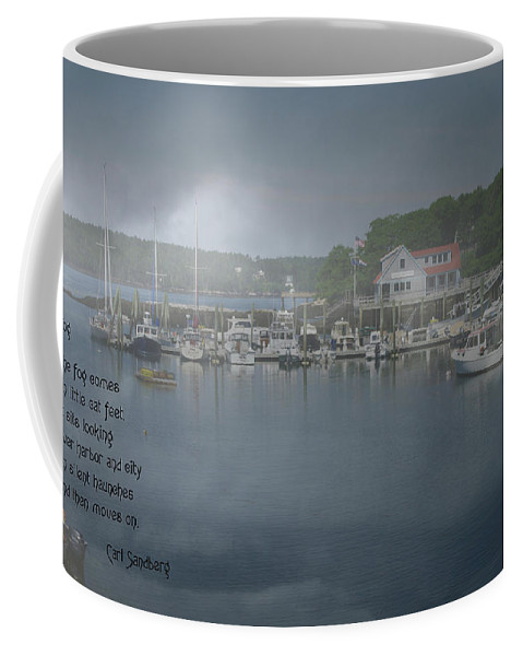 Fog Coffee Mug featuring the photograph Foggy Coast Of Maine by Gary Benson