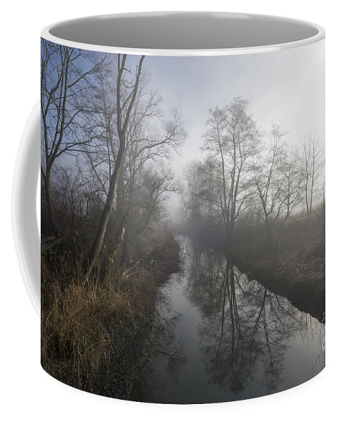 River Coffee Mug featuring the photograph Foggy River by Mats Silvan