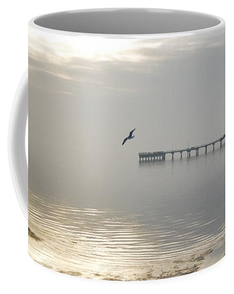 Sunrise Coffee Mug featuring the photograph Foggy Sunrise by Leticia Latocki