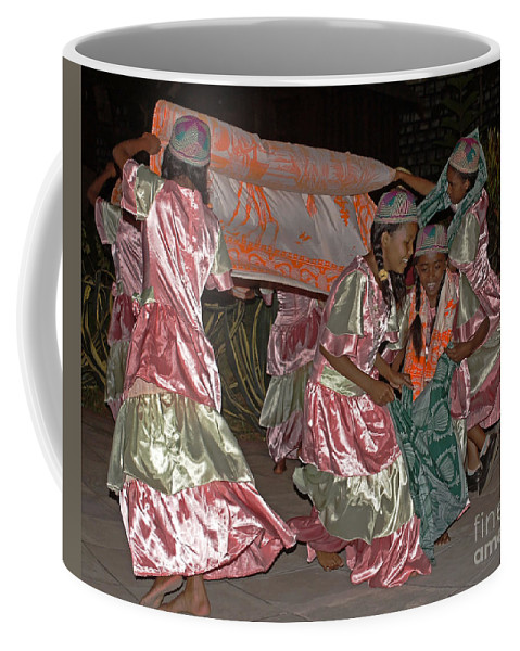 Madagascar Coffee Mug featuring the photograph folk dance group from Madagascar 2 by Rudi Prott