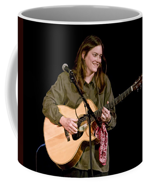 Art Coffee Mug featuring the photograph Folk Musician Denise Franke by Randall Nyhof