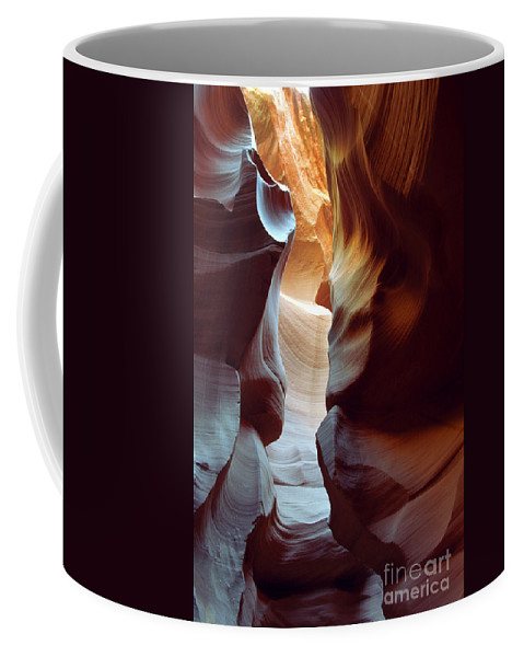 Slot Canyon Coffee Mug featuring the photograph Follow The Light II by Kathy McClure