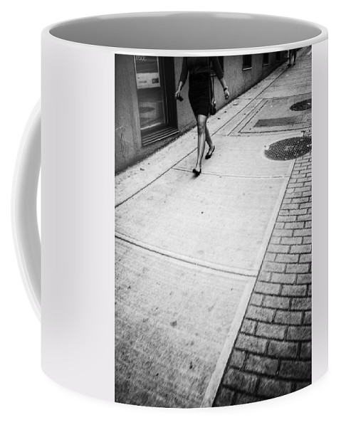 Street Coffee Mug featuring the photograph Follower by The Artist Project