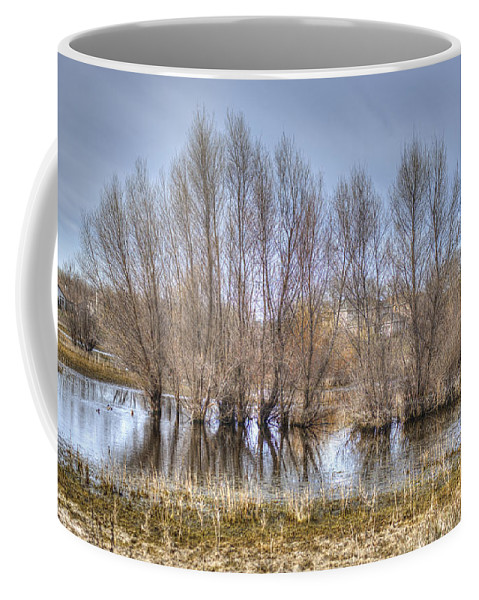 Pond Coffee Mug featuring the photograph Folsom Dried Pond by Diego Re