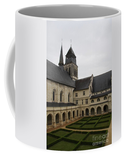 Cloister Coffee Mug featuring the photograph Fontevraud Abbey Courtyard - France by Christiane Schulze Art And Photography