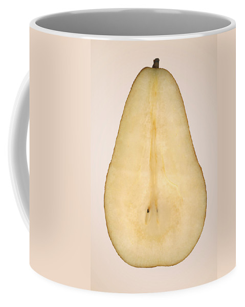 Chef Coffee Mug featuring the photograph Food - Fruit - A Slice Of Bosc Pear by Mike Savad