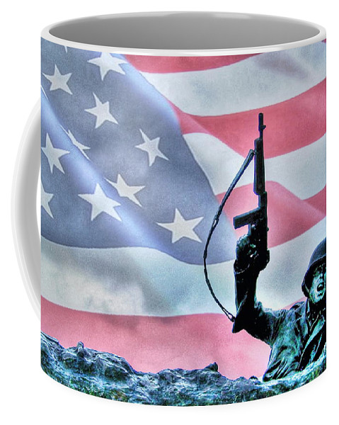 Freedom Coffee Mug featuring the photograph For Freedom by Dan Stone