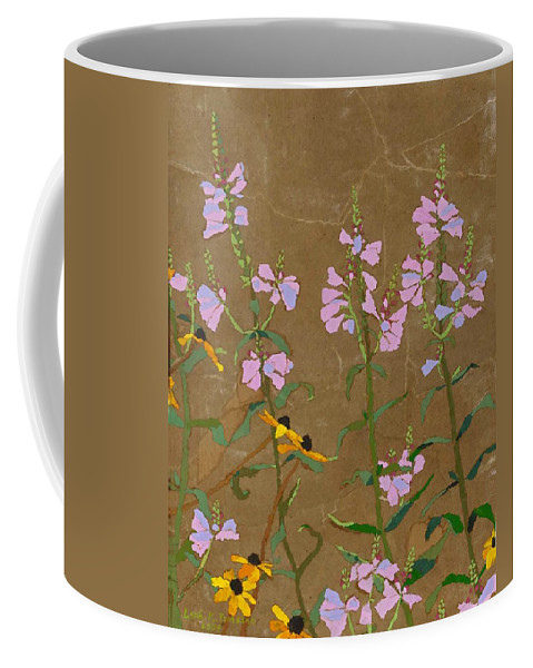 Floral Coffee Mug featuring the painting For Jack From Woodstock by Leah Tomaino
