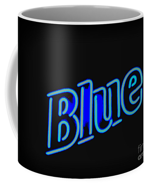 Coffee Mug featuring the photograph For You Madame Blue by Kelly Awad