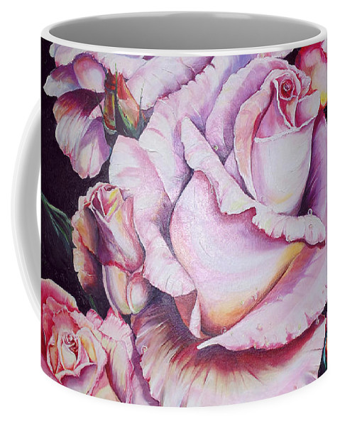 Rose Paintings Coffee Mug featuring the painting For Mom by Karin Dawn Kelshall- Best