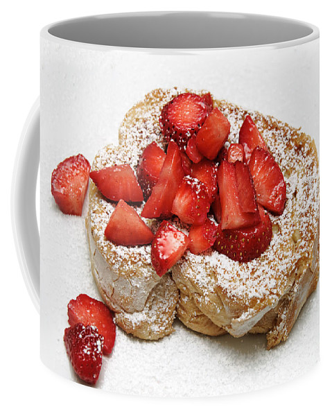 French Toast Coffee Mug featuring the photograph For The Love Of Strawberries by Andee Design
