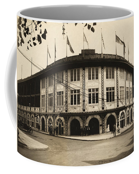 Forbes Field Coffee Mug featuring the photograph Forbes Field Pittsburgh 1909 by Mountain Dreams