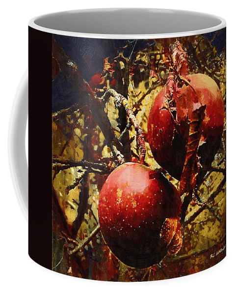 Apples Coffee Mug featuring the painting Forbidden Fruit by RC DeWinter