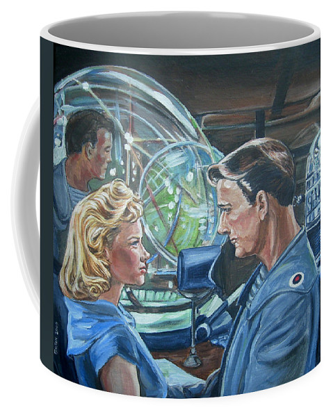 Forbidden Planet Coffee Mug featuring the painting Forbidden Planet by Bryan Bustard