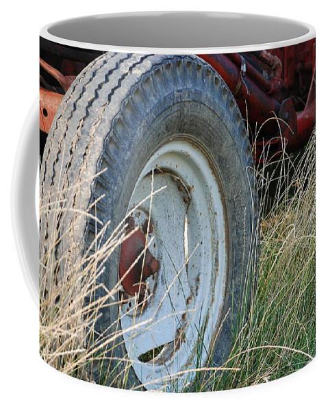Ford Coffee Mug featuring the photograph Ford Tractor Tire by Jennifer Ancker